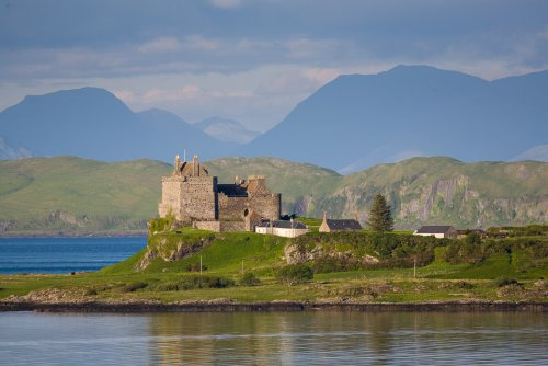 Duart Castle at the head of the bay