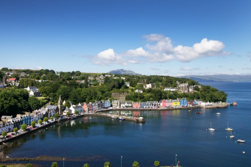 Looking over Tobermory and the harbour