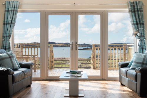 A room with a view!  Wonderful sea views from the living area