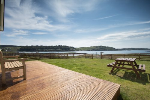 Decking area with stunning views