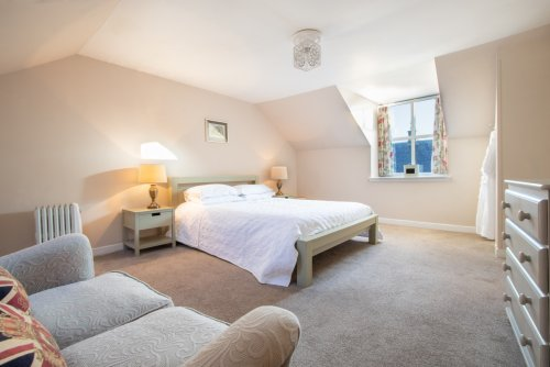 Master double bedroom at The Old Byre