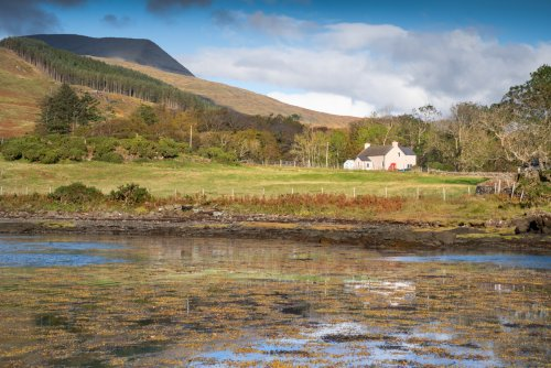 The Old Post Office setting by Kilfinichen Bay