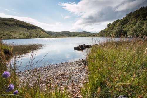 Loch Glennain - a ten minute walk from the door