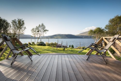 Decking with fabulous views