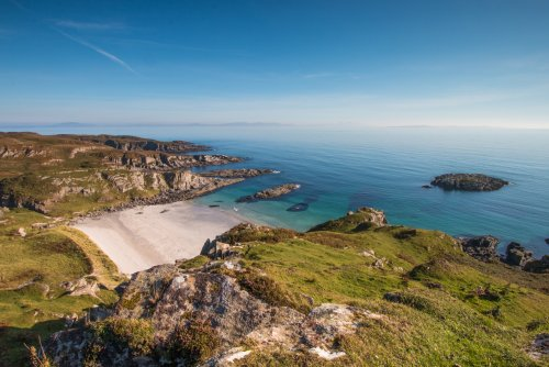 Superb rocky coastline with sandy bays to explore close by