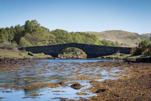 The humpbacked bridge at the turning to Grasspoint
