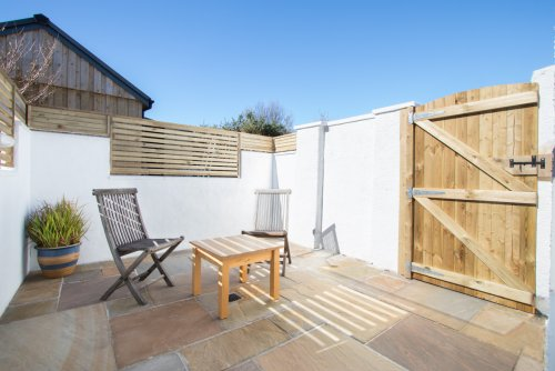 Great suntrap and private space for guests