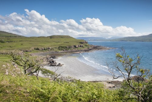 Traigh na Cille (or Black beach) on the west coast of Mull (15 minutes from the cottage)