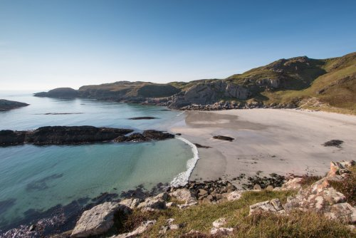 Beautiful sandy bays on the Ross of Mull to explore