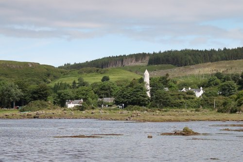 Dervaig village from a distance