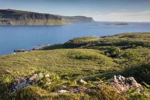 Looking over the entrance to Loch na Keal and the Gribun cliffs