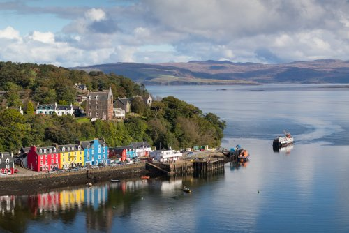 Tobermory harbour on a summer's day