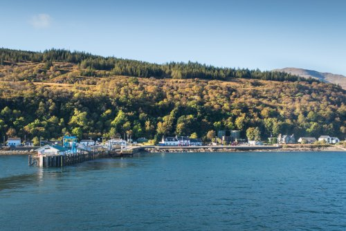 Approaching the village of Craignure on the ferry from Oban